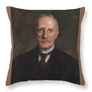 Edward Guthrie Kennedy , By William Merritt Chase 1849-1916 Throw Pillow