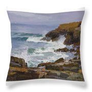 Edward Henry Potthast 1857 - 1927 Looking Out To Sea Throw Pillow