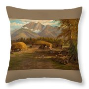 Edward Hill 1843-1923 Adamsons Ranch, Utah Throw Pillow