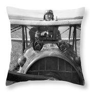 Edward Rickenbacker Throw Pillow