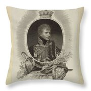 Edward Scriven 1775-1841 His Royal Highness The Duke Of Cumberland. 1807 Throw Pillow
