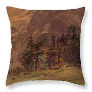 Edward Theodore Compton American 1849-1921 Mountains At Twilight, 1907 Throw Pillow
