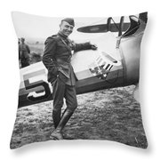 Edward V. Rickenbacker Throw Pillow