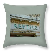 Edwardian Reptile House  Throw Pillow