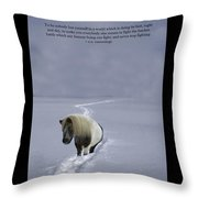ee Cummings Be Yourself Quote Poster Throw Pillow