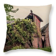 Eerie Barn Throw Pillow