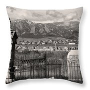 Eerie Cemetery Throw Pillow by James BO  Insogna
