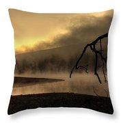 Eerie Dawn Throw Pillow by Lori Deiter
