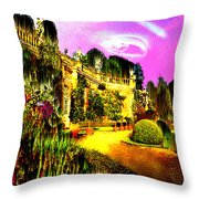 Eerie Estate Throw Pillow