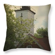 Erie Lighthouse 1872 Throw Pillow