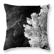 Eerie Skies In Cornville Throw Pillow