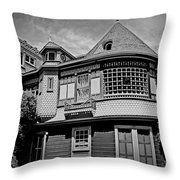Eerie Winchester House  Throw Pillow