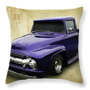 Ef In Purple Throw Pillow