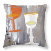 Efervescent Champagne Cups Throw Pillow