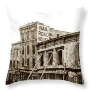 Effects Of The Earthquake, Oct. 21, 1868 Railroad House, Caly St Throw Pillow