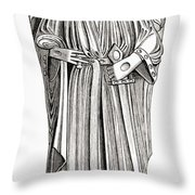 Effigy Of King John On His Tomb In Throw Pillow