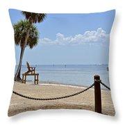 E G Simmons Park Beach Throw Pillow