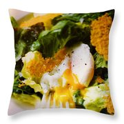 Egg And Greens Throw Pillow