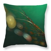 Egg Clutch  Diving The Reef Series Throw Pillow