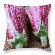 Egg Plants Throw Pillow