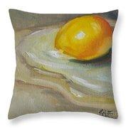 Egg Yolk No. 1 Throw Pillow
