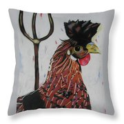 Egg Zactly Throw Pillow