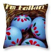 Egggggsactly  Throw Pillow