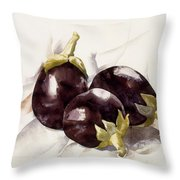 Eggplants. ,charles Demuth Throw Pillow
