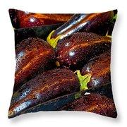 Eggplants Throw Pillow