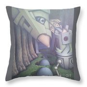 Eggs 'en A Basket Throw Pillow