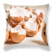 Eggs Have Feelings Too Throw Pillow