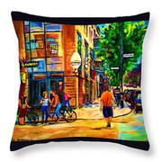 Eggspectation Cafe On Esplanade Throw Pillow