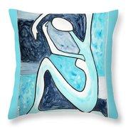 Eggtree Abstract Art Figure Throw Pillow