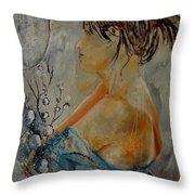 Eglantine Before The Mirror  Throw Pillow