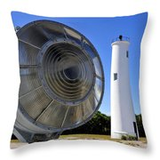 Egmont Key Lighthouse 1858 Throw Pillow