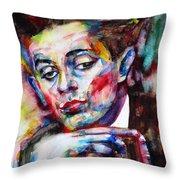 Egon Schiele - Watercolor Portrait.2 Throw Pillow