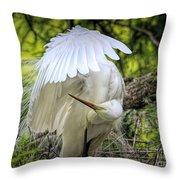 Egret - 2975 Throw Pillow