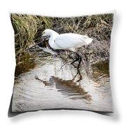 Egret 3 Throw Pillow