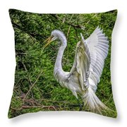 Egret - 3419 Throw Pillow