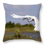 Egret Ballet Throw Pillow