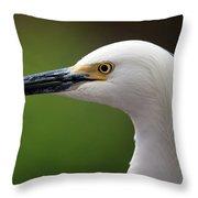 Egret Bird Throw Pillow