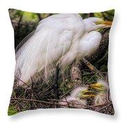 Egrets - 3362 Throw Pillow