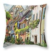 Eguisheim In Bloom Throw Pillow