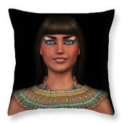 Egyian Princess Portrait Throw Pillow
