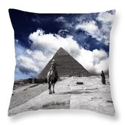 Egypt - Clouds Over Pyramid Throw Pillow