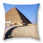 Egypt - Way To Pyramid Throw Pillow