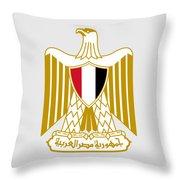 Egypt Coat Of Arms Throw Pillow