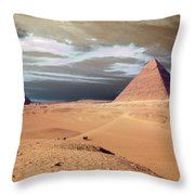 Egypt Eyes Throw Pillow