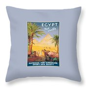 Egypt This Winter Throw Pillow
