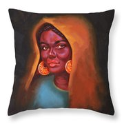 Egyptian Beauty Throw Pillow